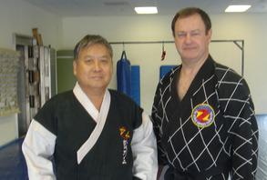 Master Kwang Sik Myung -Founder   World Hapkido Federation  Master Frank Babcock -Director St Louis, MO.  USA Hapkido Central Association